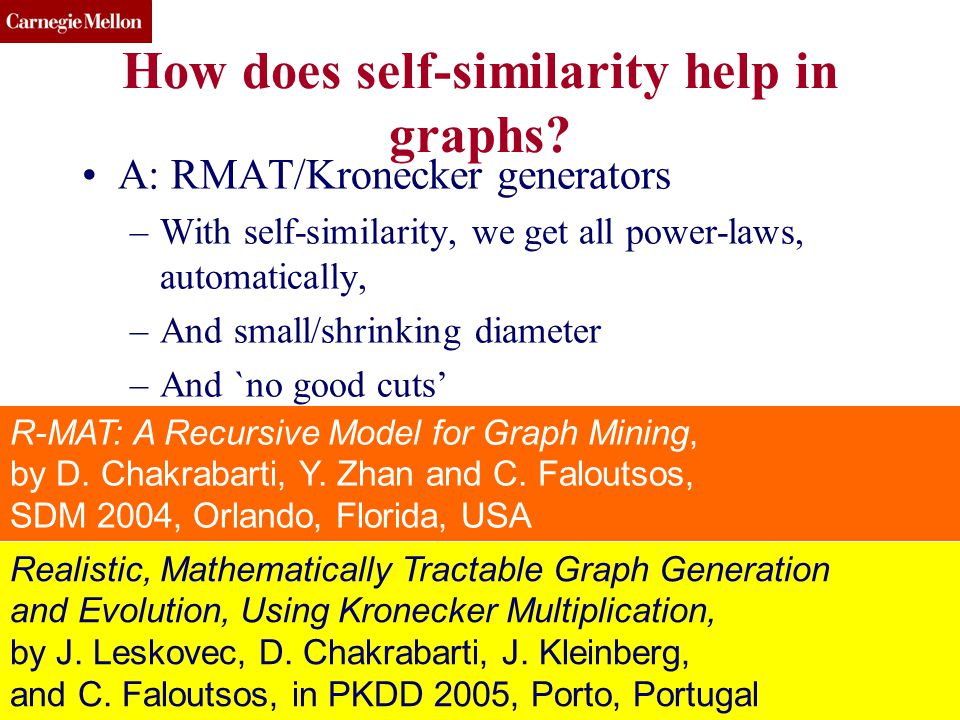 CMU SCS How does self-similarity help in graphs.