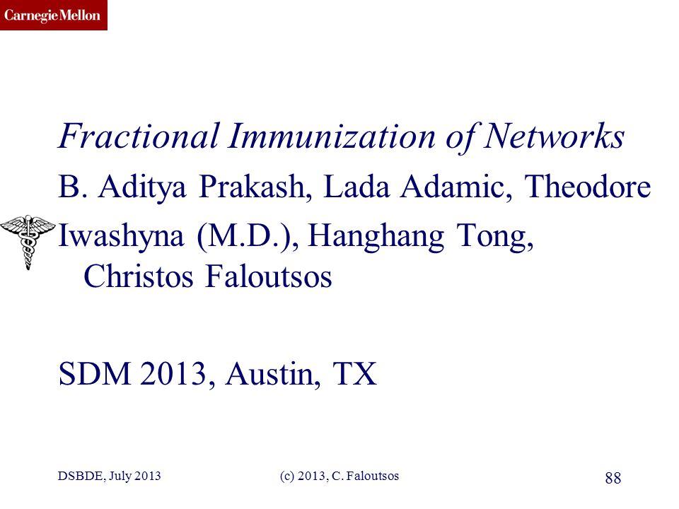 CMU SCS Fractional Immunization of Networks B.