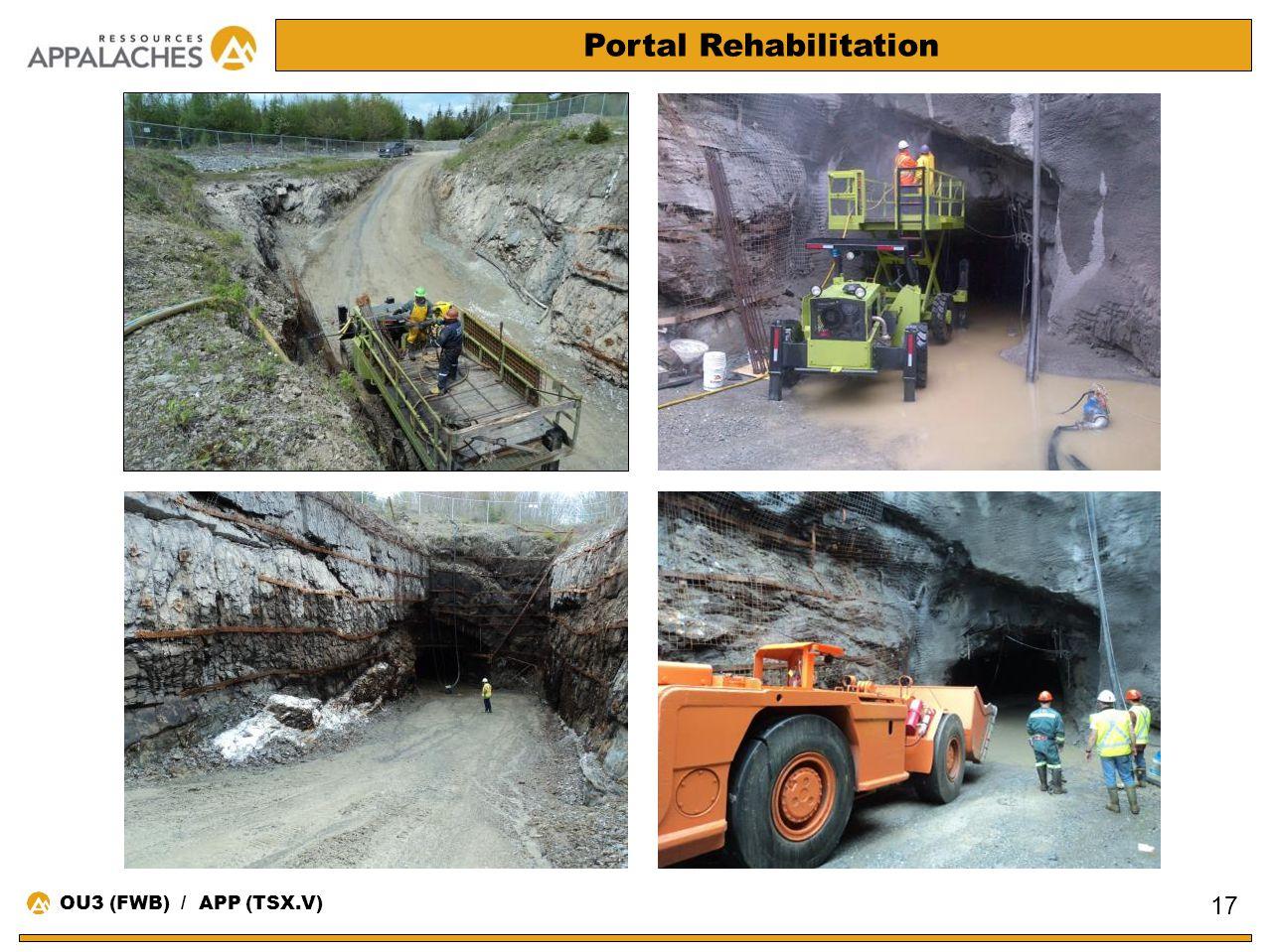 Portal Rehabilitation 17 OU3 (FWB) / APP (TSX.V)