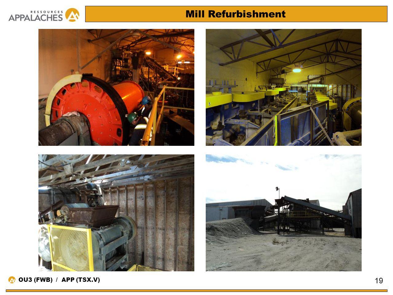 Mill Refurbishment 19 OU3 (FWB) / APP (TSX.V)