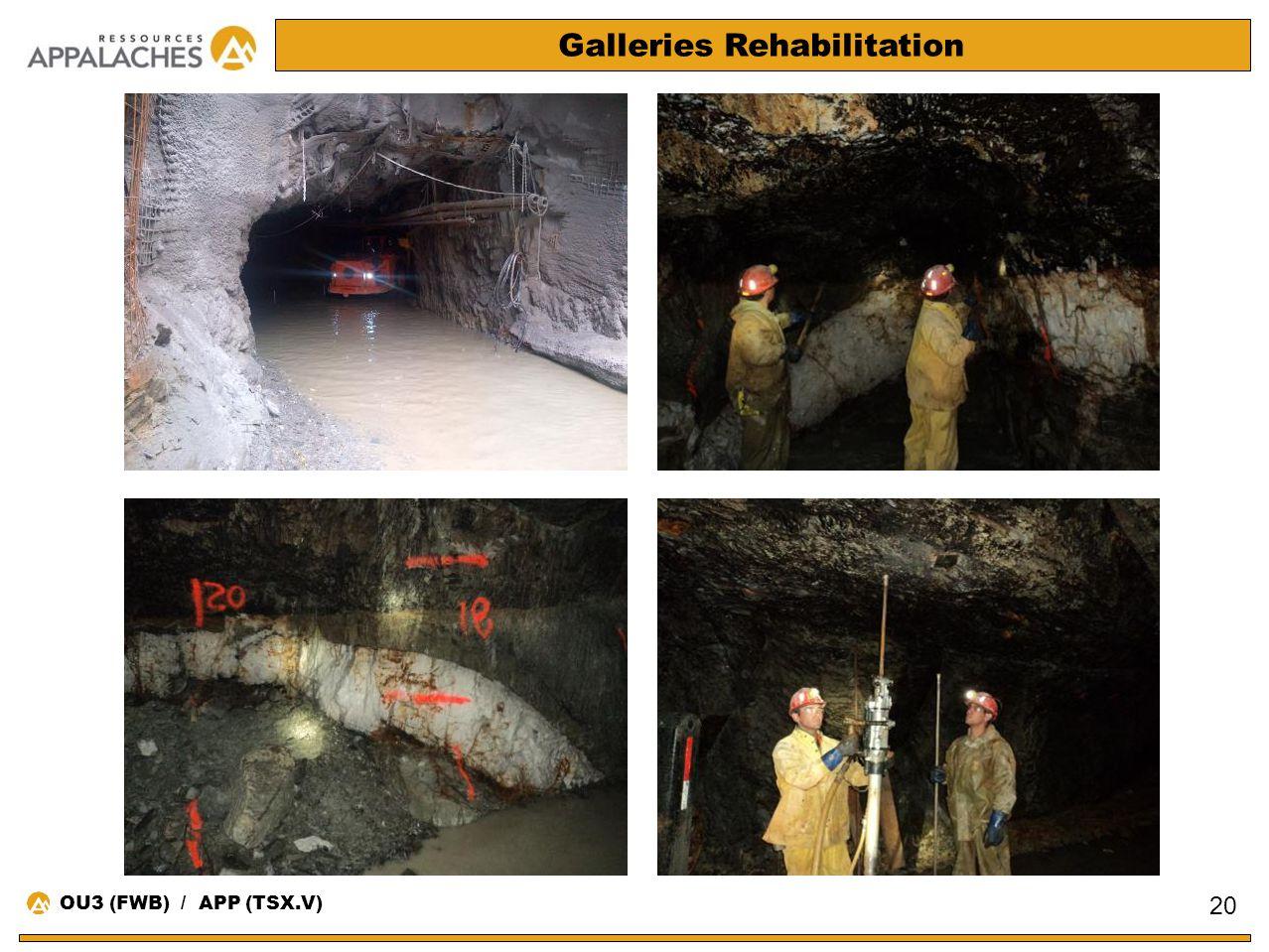 Galleries Rehabilitation 20 OU3 (FWB) / APP (TSX.V)