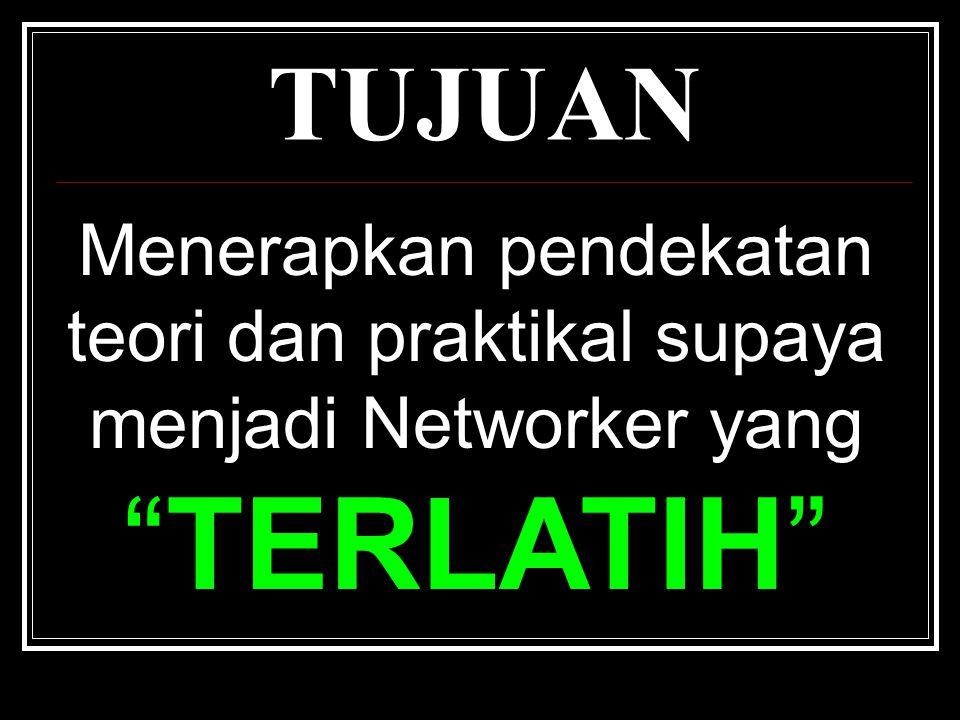 MATLAMAT Membina sebuah 'KUMPULAN' penggiat Networking yang dilatih secara online dan offline yang diberi nama SNIPER NETWORKER.