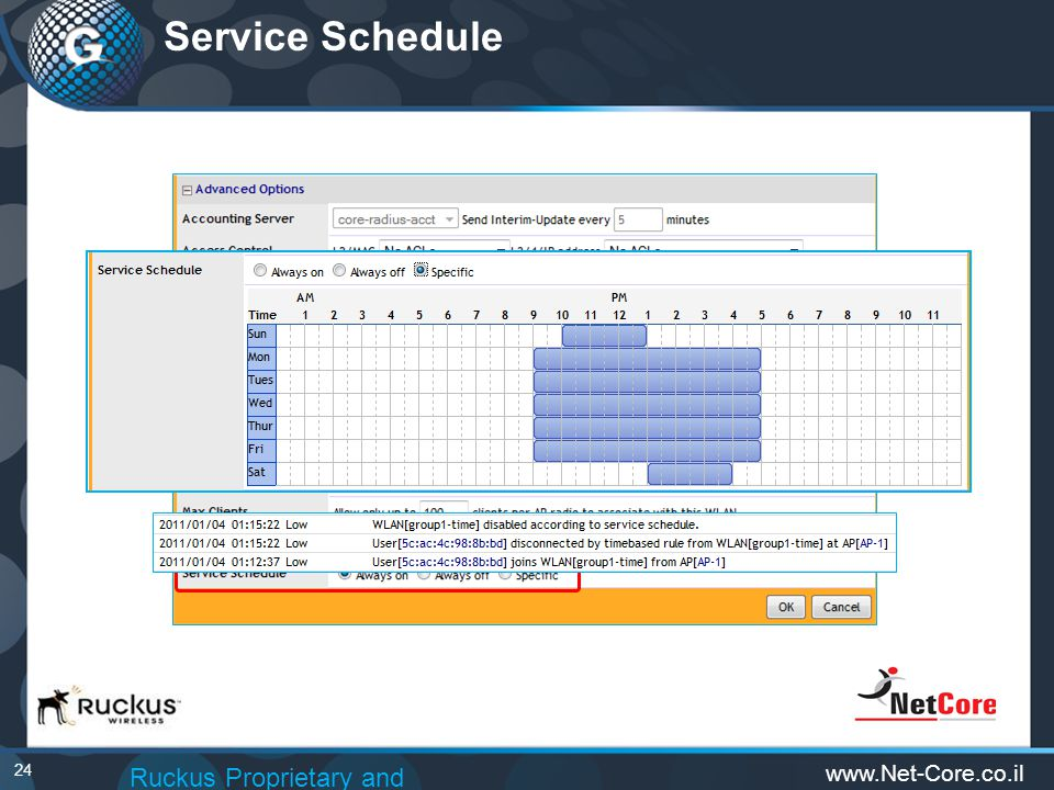 24 Service Schedule Ruckus Proprietary and Confidential