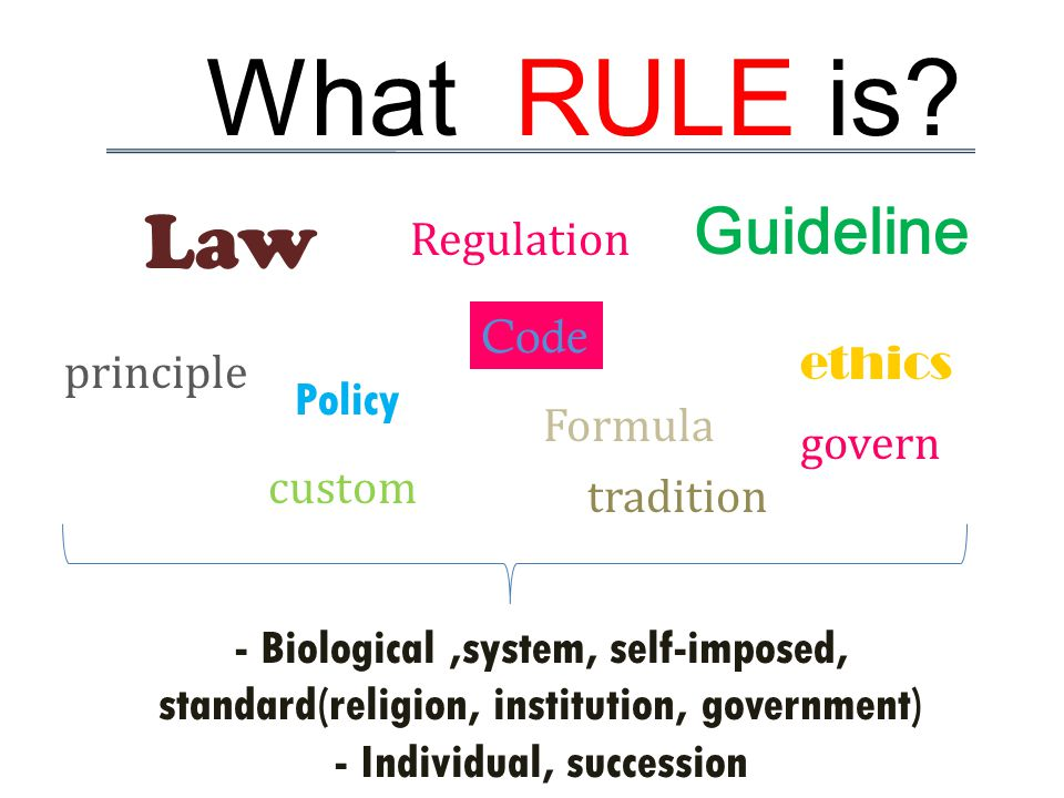 What RULE is.