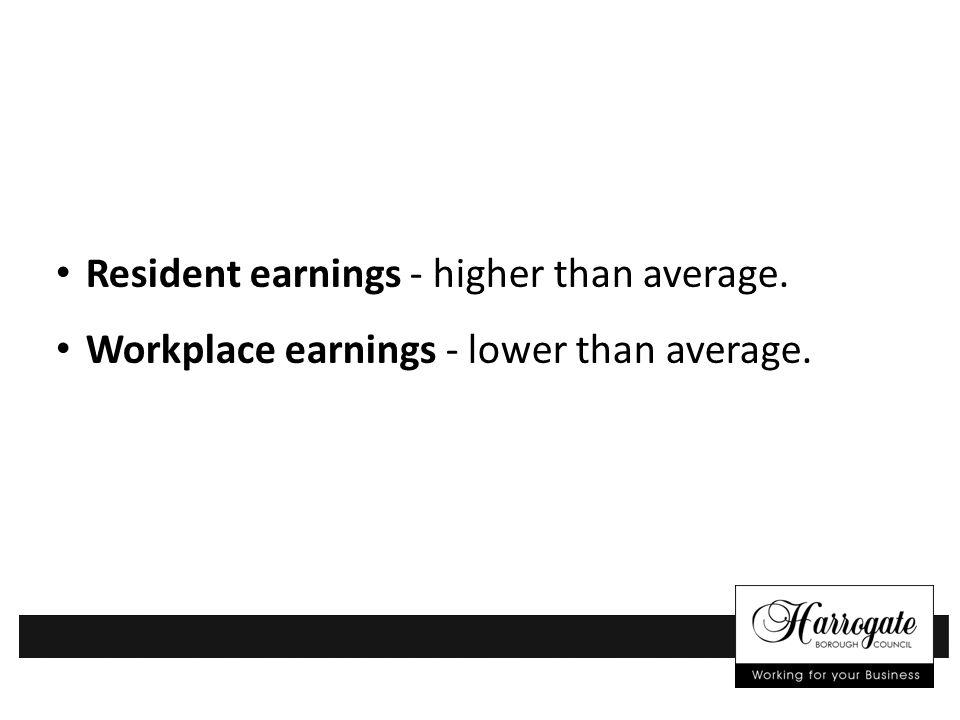 Resident earnings - higher than average. Workplace earnings - lower than average.