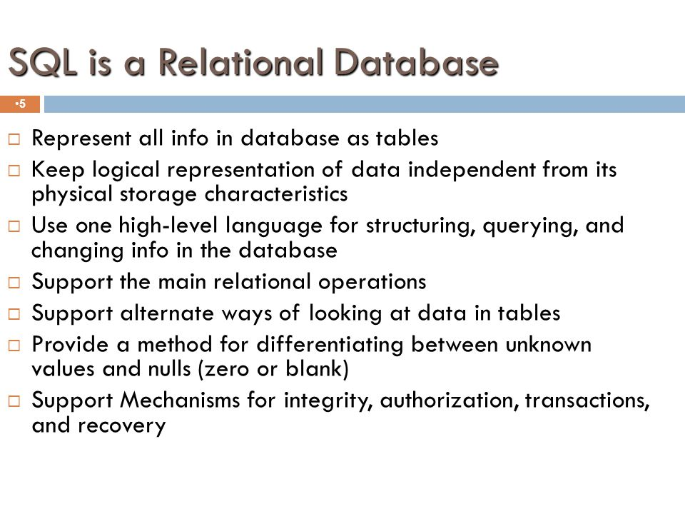 SQL Requirements 4  SQL Must be embedded in a programming language or a web page.