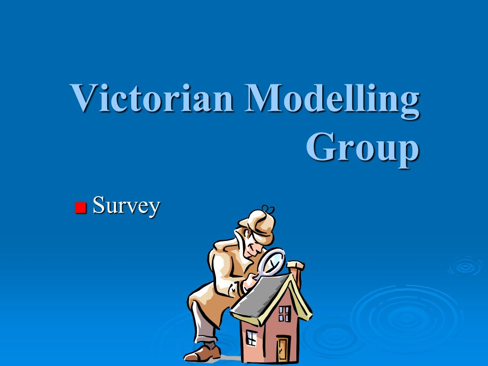 Victorian Modelling Group Survey Survey