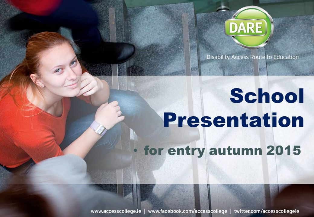 School Presentation for entry autumn 2015