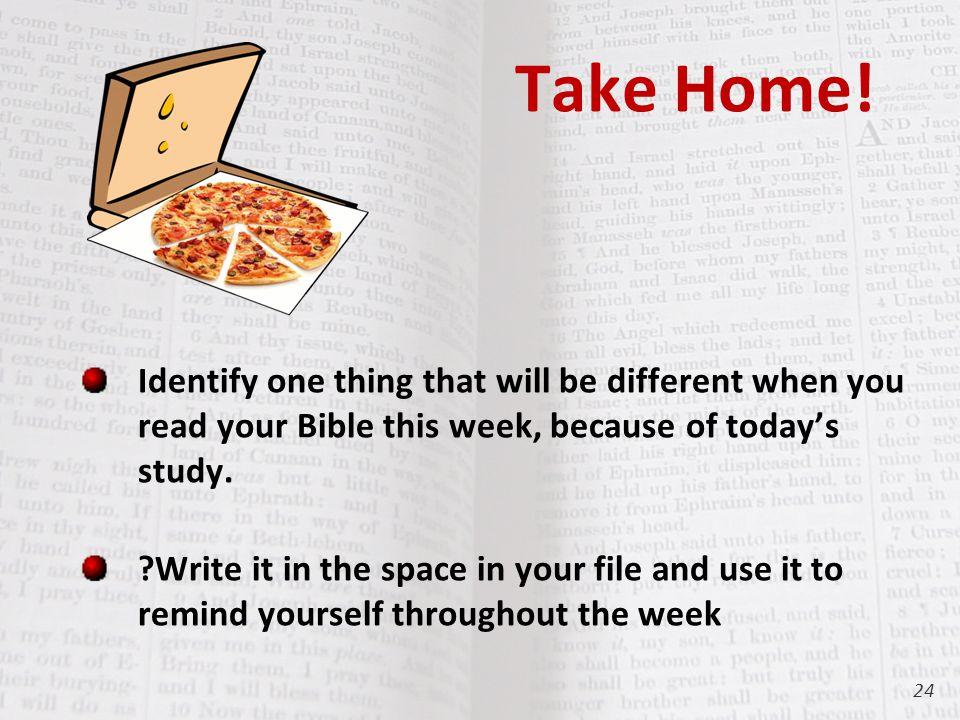 Take Home.