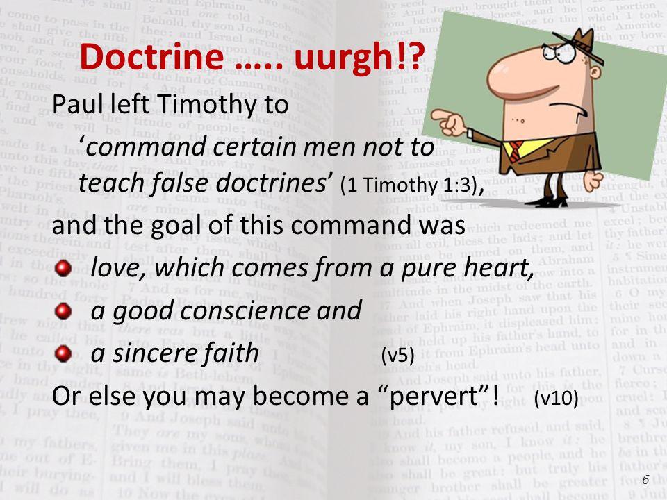 Doctrine ….. uurgh!.