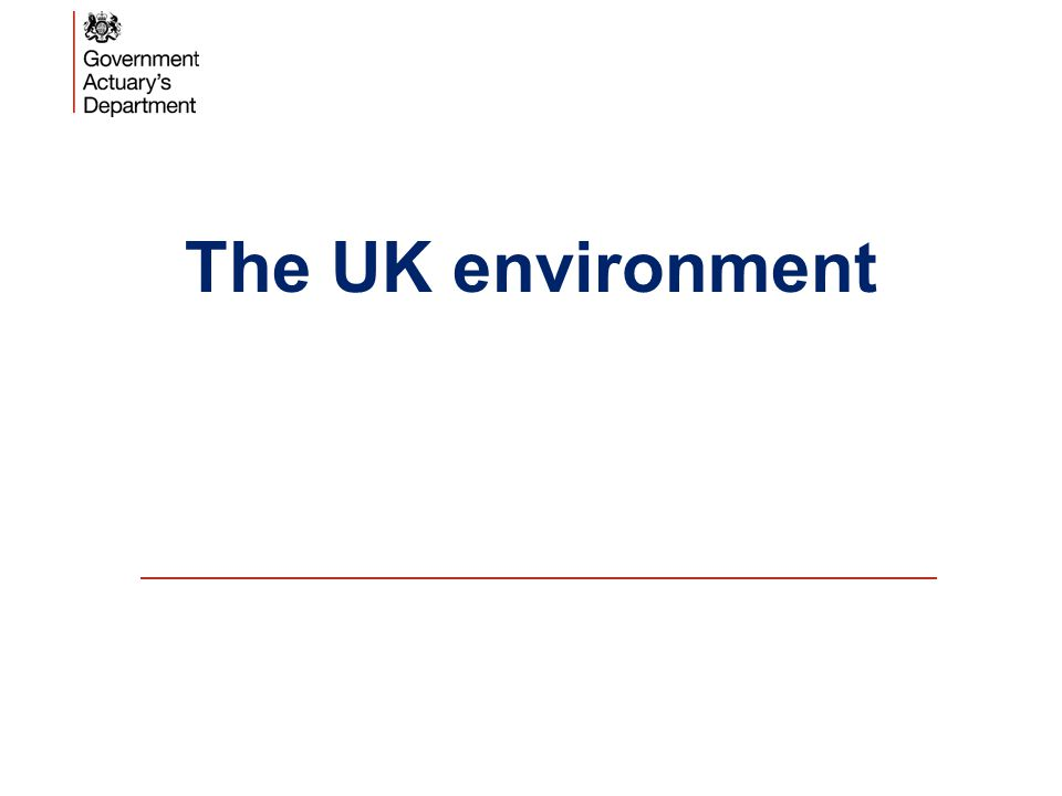 The UK environment