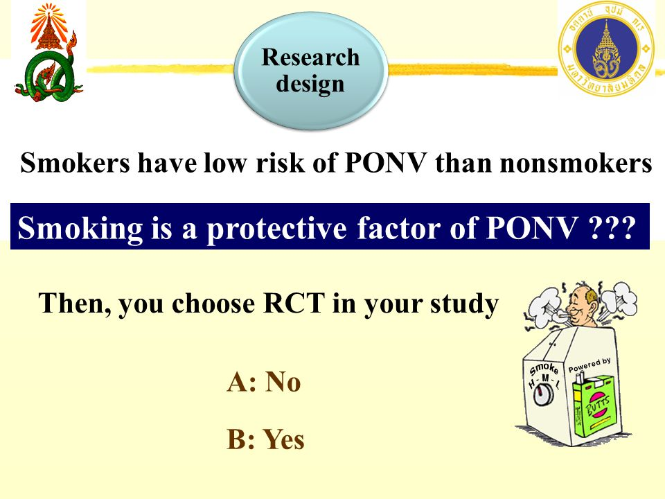Smoking is a protective factor of PONV ??.