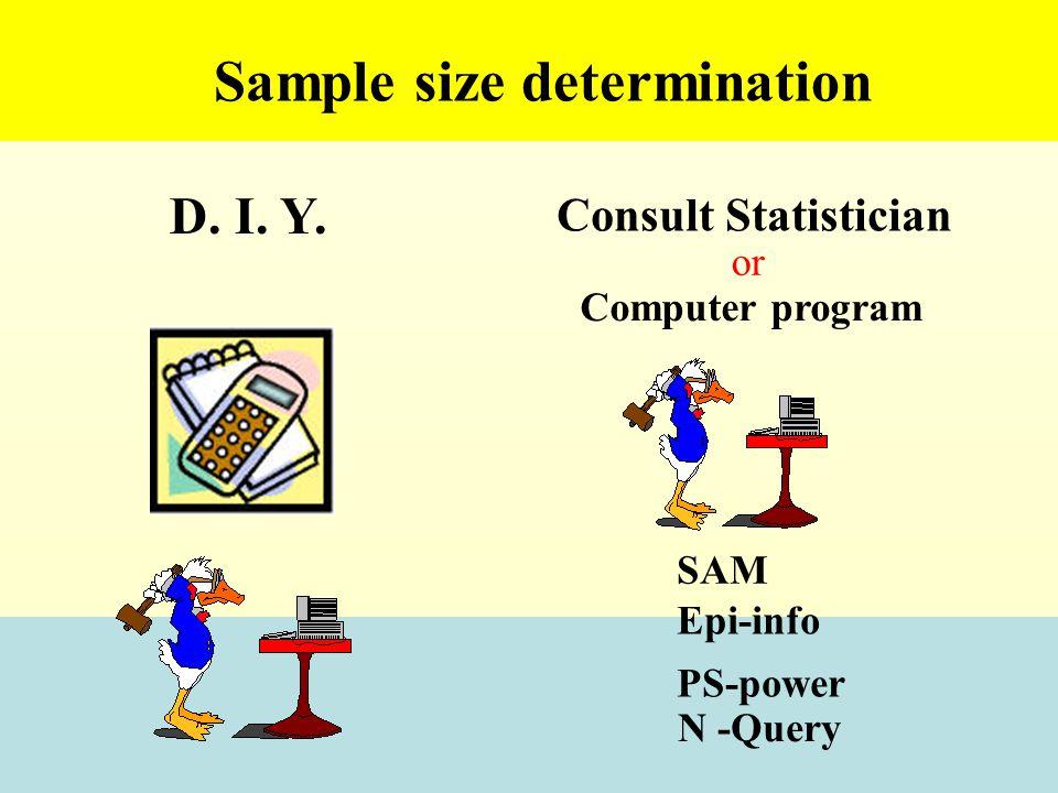 Sample size determination D.I. Y.