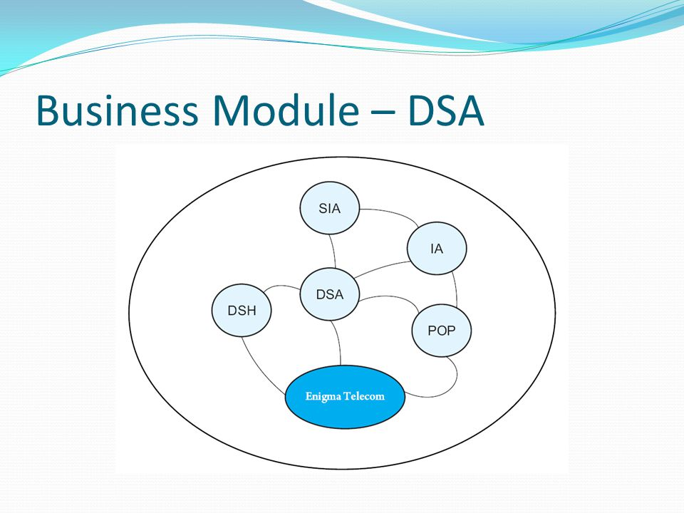 Understanding of Terms and Roles DSA : Distributed service Agency DSA is an auth0rative representative of Enigma and holds a Valid License to be a part of Enigma Training Module DSA is supported by POP, SIE, IE that are a part of DSA associate team.