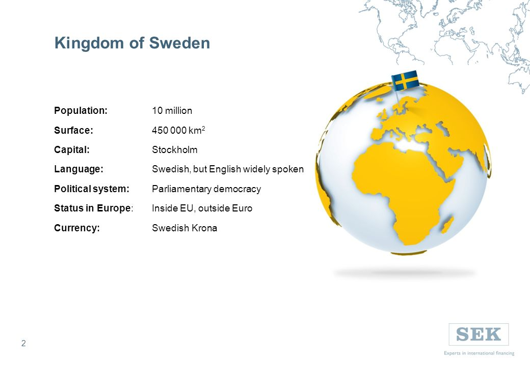 3 Economy of Sweden Source: SCB, Worldbank, Bloomberg, Macrobond 3 Public debt to GDP Facts Rating:AAA/Aaa/Aaa GDP growth (Q1 2013), YoY:1.7% GDP:USD 545.7 bn* GDP per capita: USD 57 322* Unemployment (May 2013): 8.2% Inflation rate (May 2013):-0,2% Current Repo Rate: 1.00% * USD/SEK per 31 December 2012 6.5156 5 year CDS spreads