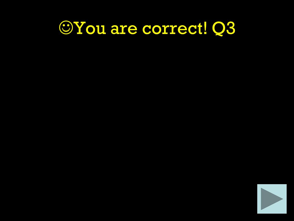 You are correct! Q3