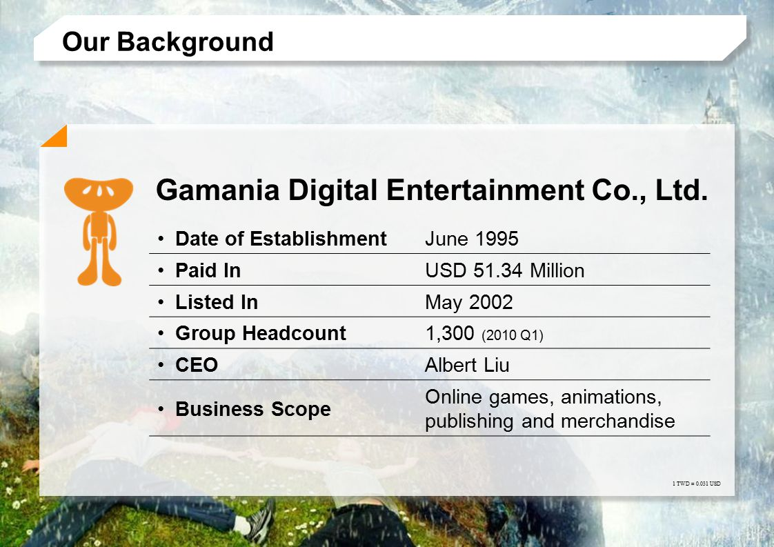 2009 © Gamania Digital Entertainment Co.,Ltd. All Rights Reserved.