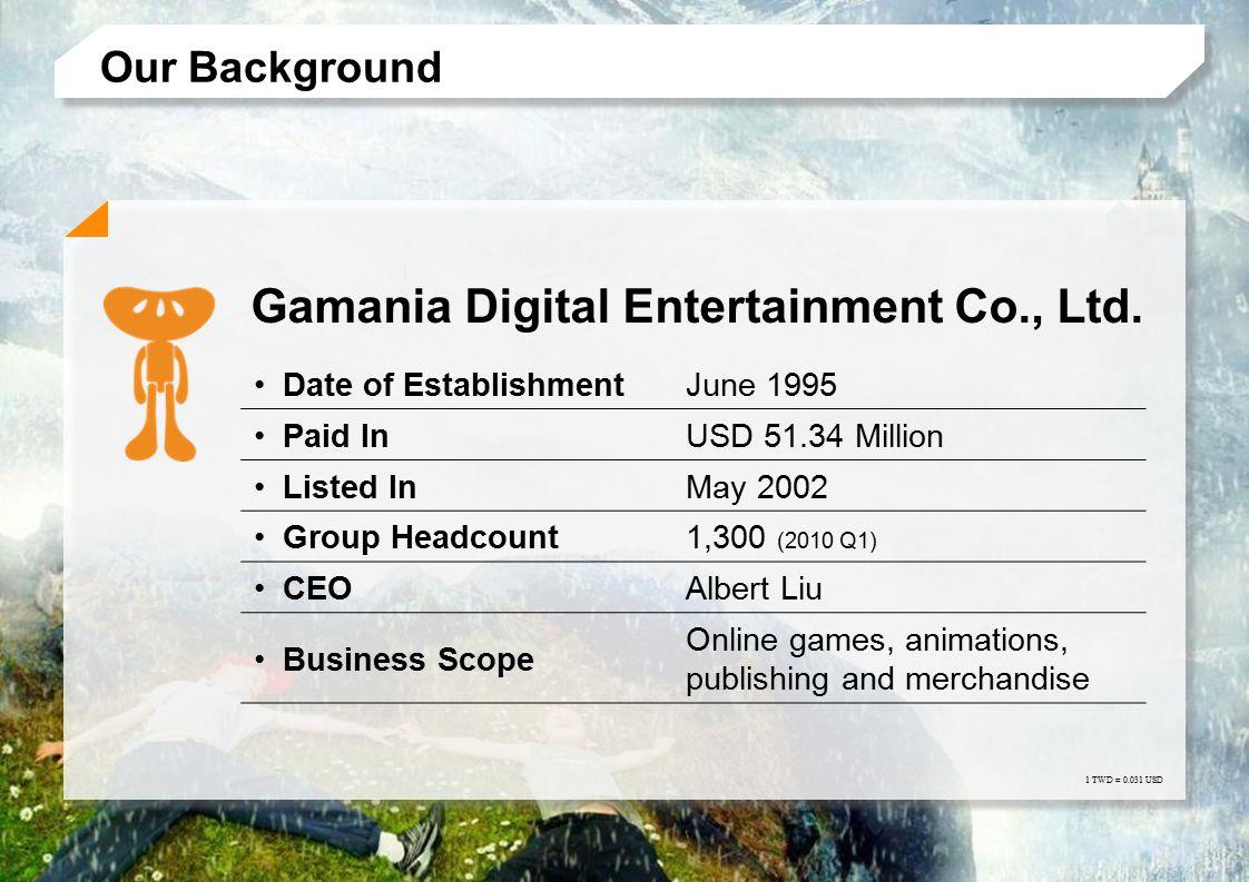 Global Network Japan ─ Gamania Digital Entertainment (Japan) Co., Ltd.