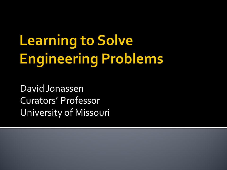 David Jonassen Curators' Professor University of Missouri