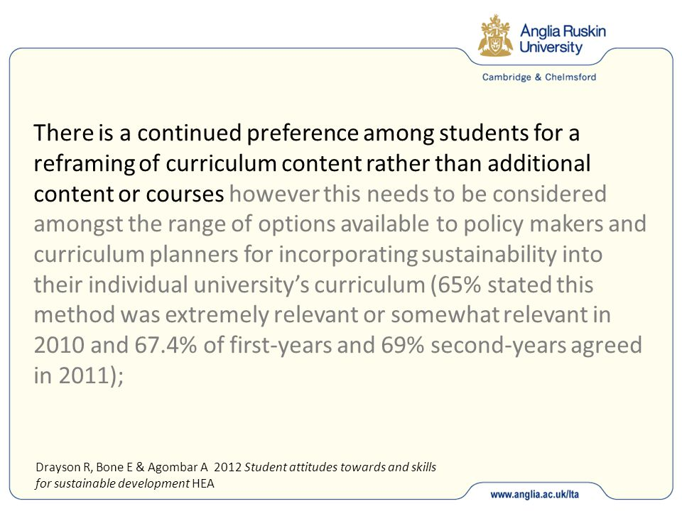There is a continued preference among students for a reframing of curriculum content rather than additional content or courses however this needs to b