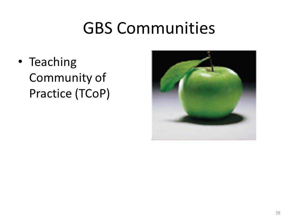 GBS Communities Teaching Community of Practice (TCoP) 38