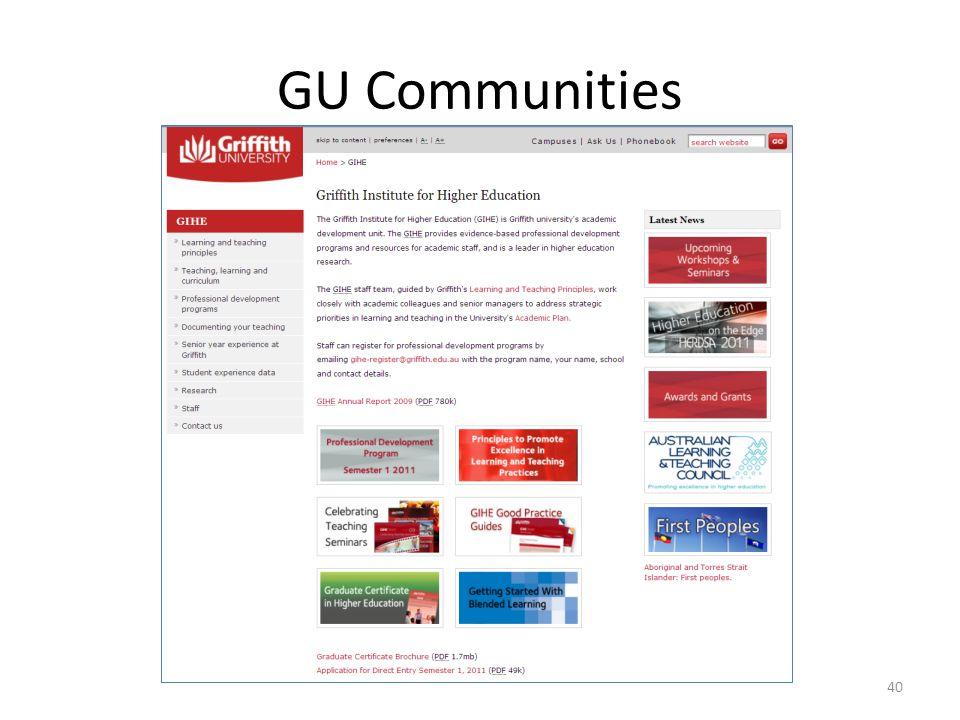 GU Communities 40