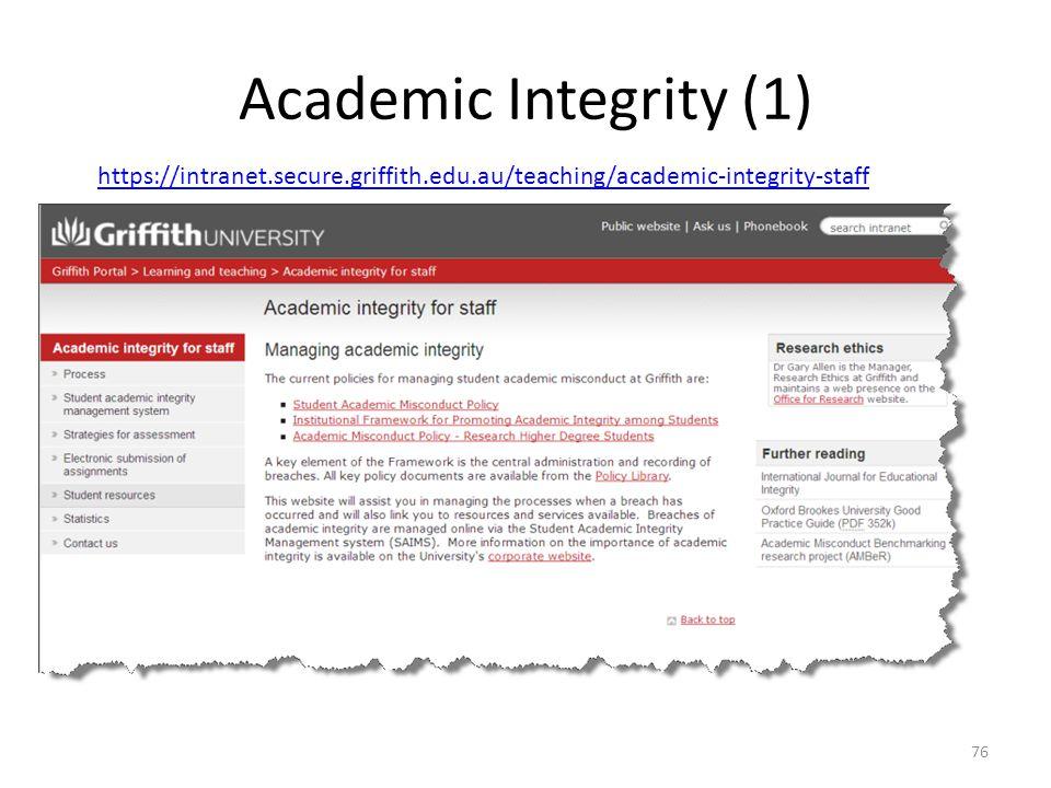 Academic Integrity (1) 76 https://intranet.secure.griffith.edu.au/teaching/academic-integrity-staff
