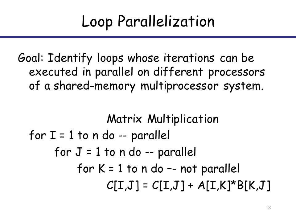 Data Dependences Flow Dependence: S1: X = ….