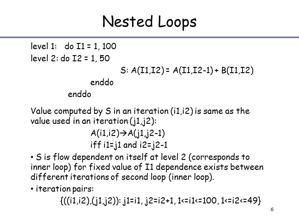 Nested Loops – Multidimensional Arrays 17