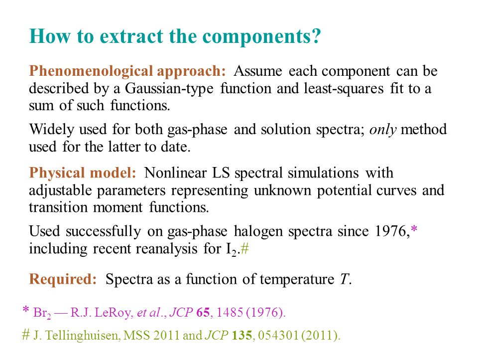 How to extract the components.