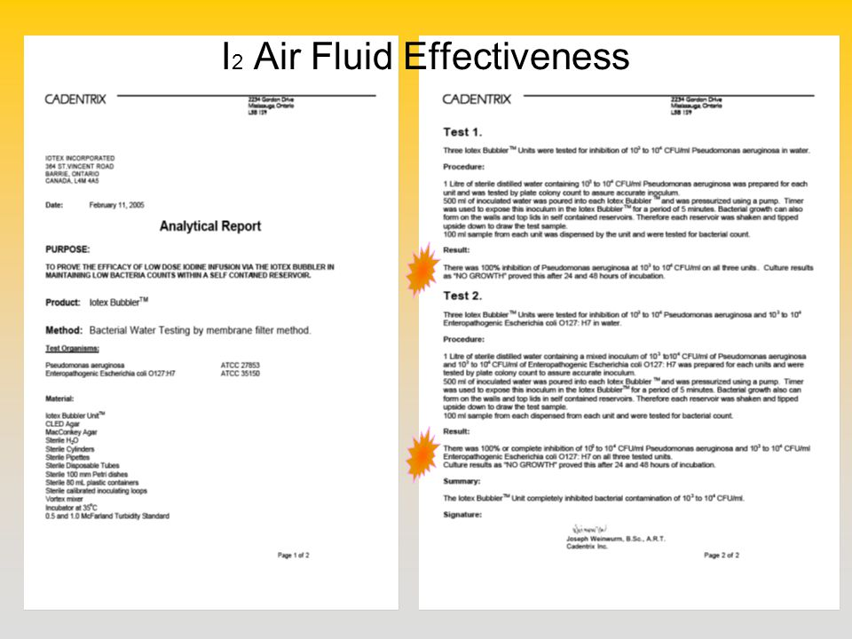 I 2 Air Fluid Effectiveness