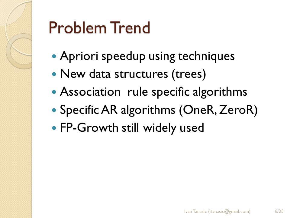 Existing Solutions 1/3 (Apriori) Agrawal et al.