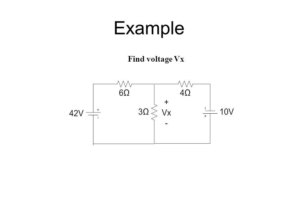 Example Find voltage Vx