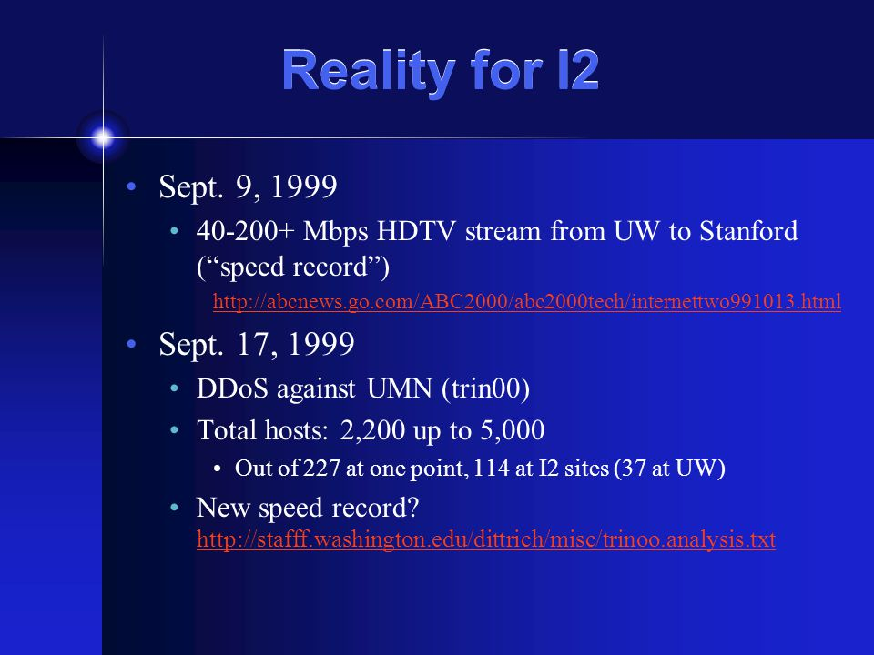 Reality for I2 Sept.