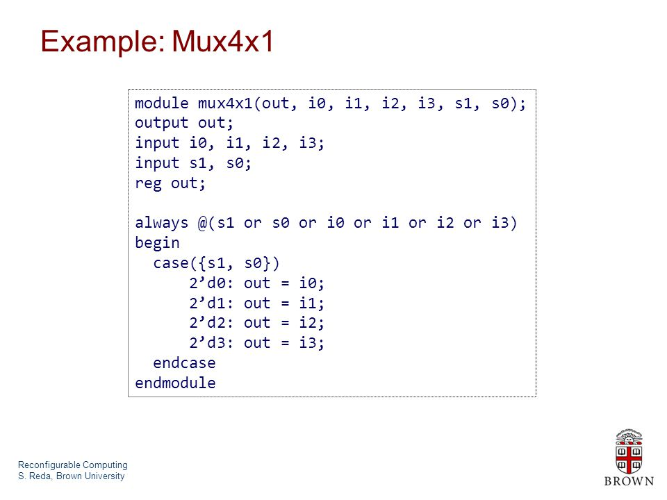 Reconfigurable Computing S.