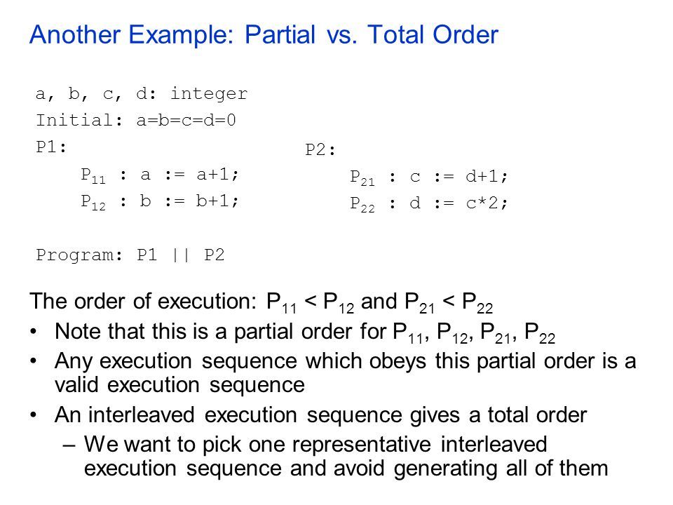 Another Example: Partial vs.