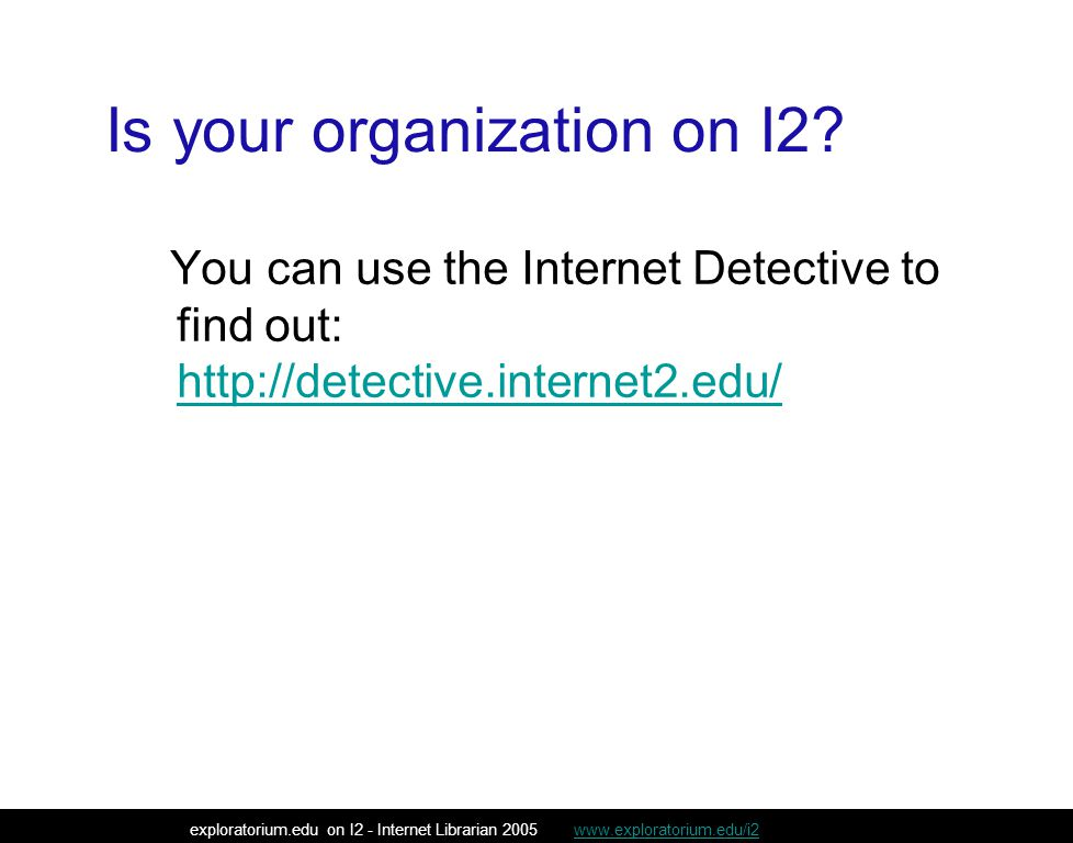Is your organization on I2.