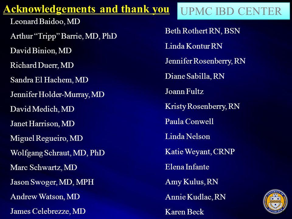 "35 Leonard Baidoo, MD Arthur ""Tripp"" Barrie, MD, PhD David Binion, MD Richard Duerr, MD Sandra El Hachem, MD Jennifer Holder-Murray, MD David Medich,"