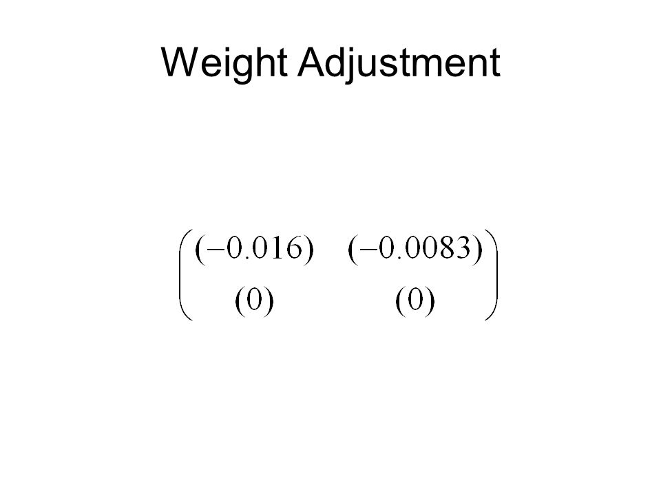 Weight Adjustment