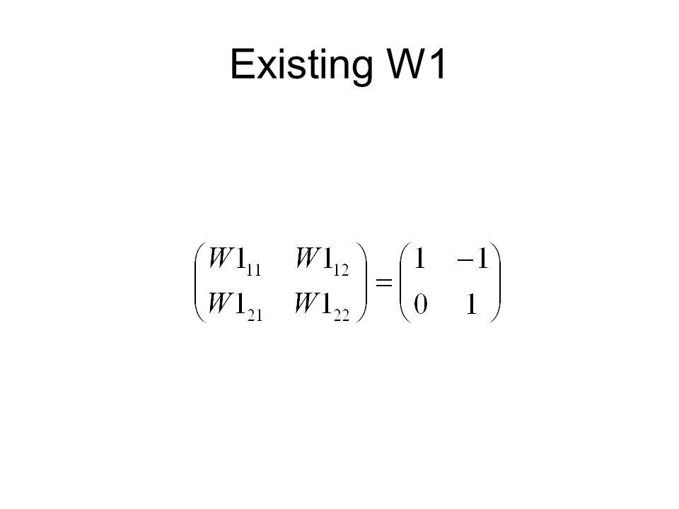 Existing W1