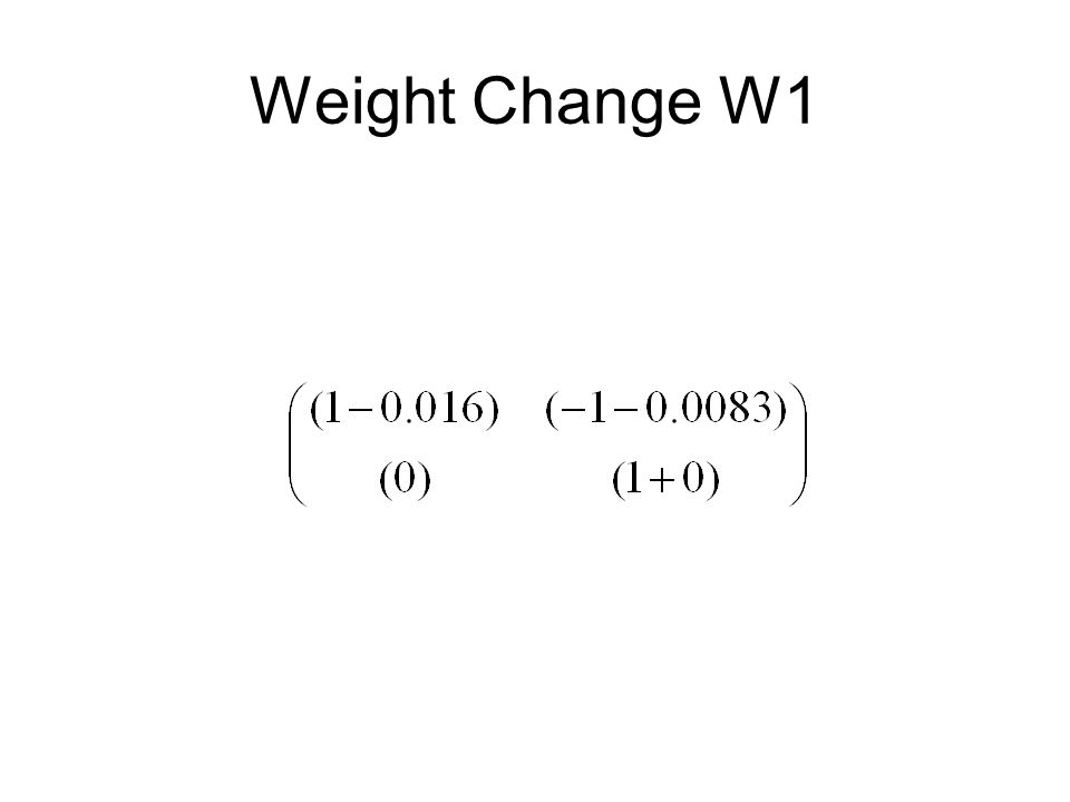 Weight Change W1