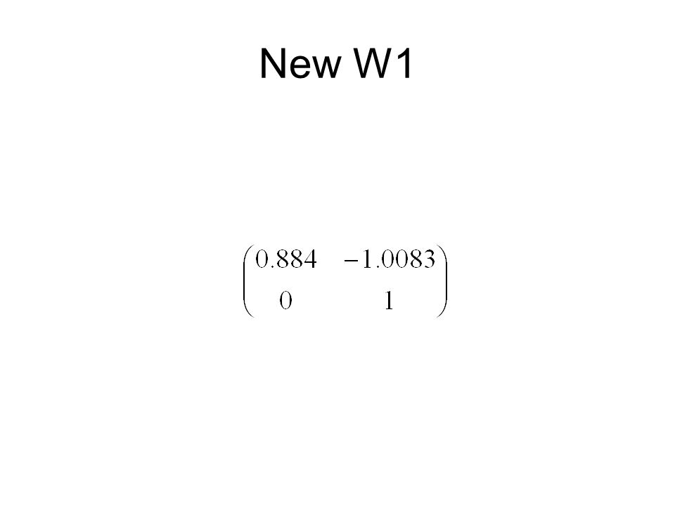 New W1