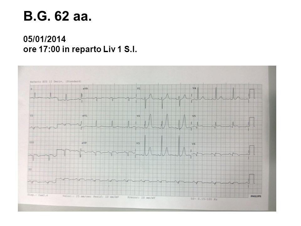 B.G. 62 aa. 05/01/2014 ore 17:00 in reparto Liv 1 S.I.