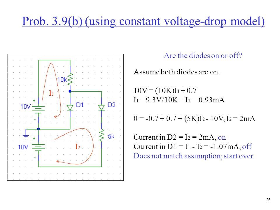 25 Constant-voltage drop with resistor model I-V characteristics and equivalent circuit 0.7V  50  + -