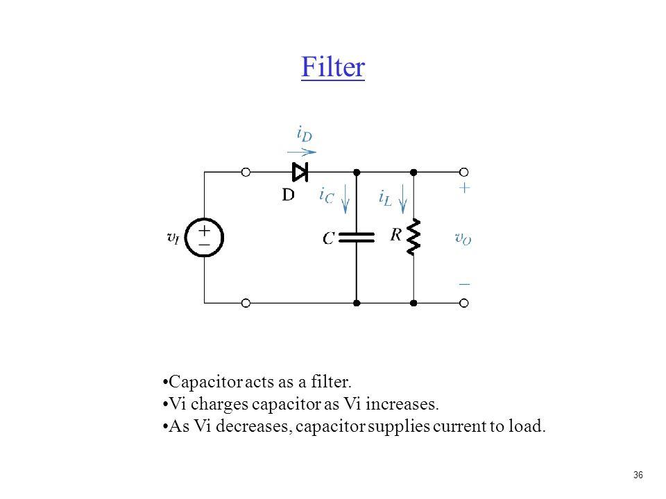 35 Bridge rectifier V O is 2V D less than V S