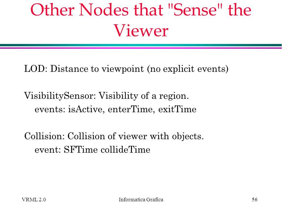 Informatica Grafica VRML 2.056 Other Nodes that