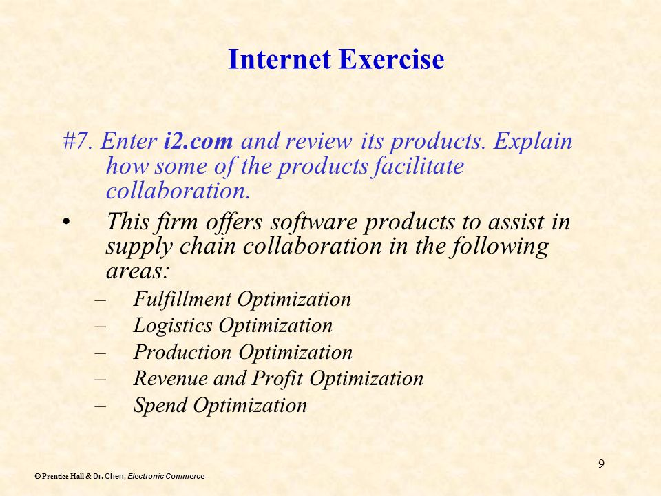 Dr. Chen, Electronic Commerce  Prentice Hall & Dr.