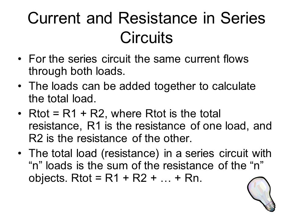 Total Voltage in a Series Circuit Ohm's Law can be used to calculate the total voltage in a series circuit by calculating the sum of the voltage parts.