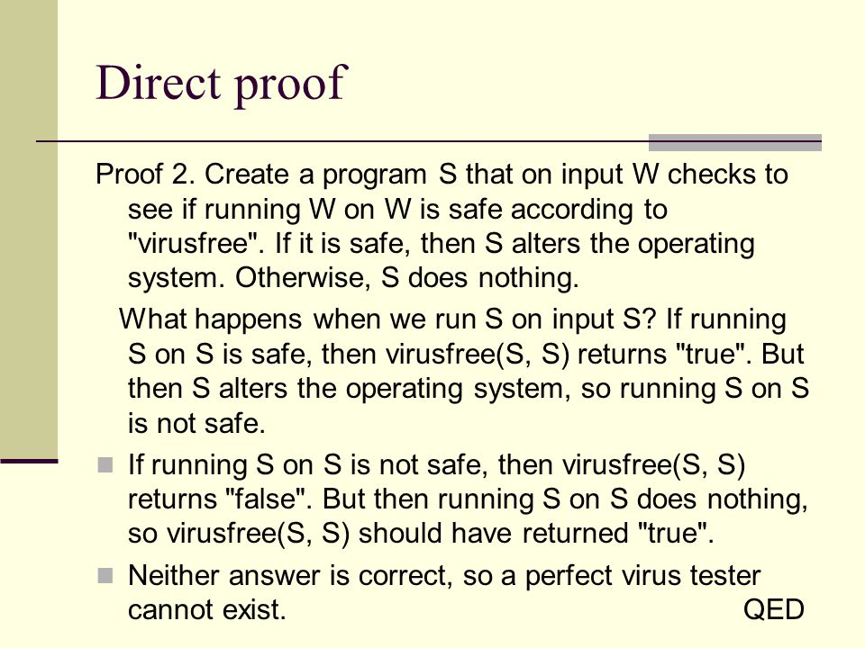 Direct proof Proof 2.