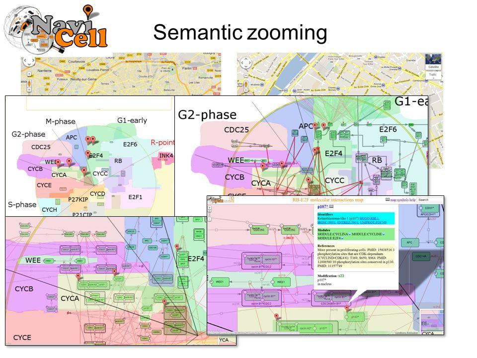 Semantic zooming
